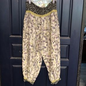 Anthropologie I Dream of Jeannie silk joggers